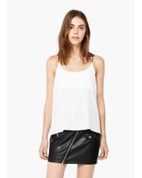 Mango - White Flowy Top - Lyst