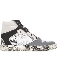 Balenciaga | Marble-Print High-Top Sneakers-White Size 8 for Men | Lyst