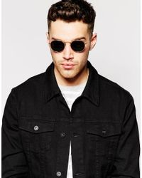 D-Struct - Metallic Round Sunglasses for Men - Lyst