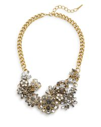 Saks Fifth Avenue | Metallic Bouquet Cluster Statement Necklace | Lyst