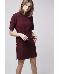 TOPSHOP - Purple Pocket Shift Dress - Lyst