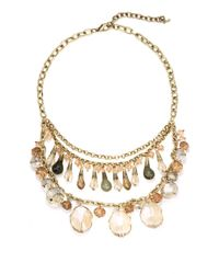 Saks Fifth Avenue | Metallic Tiered Briolette Bib Necklace | Lyst