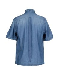 Paolo Pecora - Blue Denim Shirt for Men - Lyst