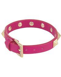 Valentino - Pink Rockstud Small Bracelet - For Women - Lyst