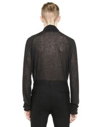 Haider Ackermann | Black Viscose & Wool Turtleneck Sweater | Lyst