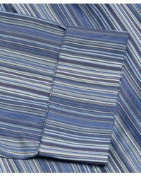 Paul Smith | Blue Striped Cotton Robe for Men | Lyst