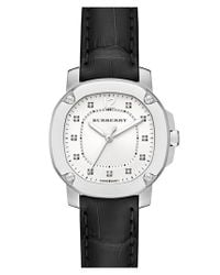 Burberry - Black Diamond Dial Alligator Strap Watch - Lyst