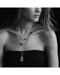 David Yurman - Metallic Cable Wrap Pendant with Amethyst and Diamonds - Lyst