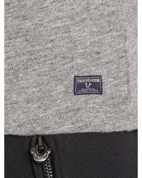 True Religion | Gray Cotton T-shirt - Grey for Men | Lyst