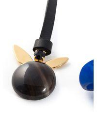 Marni   Black Flower Pendant Necklace   Lyst