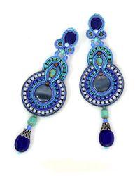Dori Csengeri   Blue Indigo Earrings   Lyst