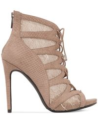 Jessica Simpson | Brown Ranissa Lace-up Ghillie Dress Booties | Lyst