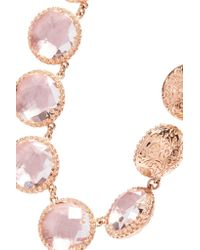Larkspur & Hawk - Multicolor Olivia Button Rivière Rose Gold-dipped Topaz Necklace - Lyst