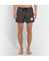 Thom Browne | Gray Mid-length Swim Shorts for Men | Lyst
