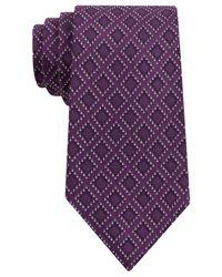 Sean John - Purple Dotted Square Tie for Men - Lyst