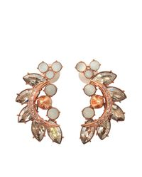 Mawi | Pink Crystal Cluster Earrings | Lyst