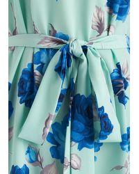 Poema - Blue Medium Format Memory Tunic In Mint Floral - Lyst