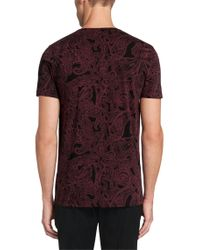 HUGO - Red 'daisley' | Cotton Paisley T-shirt for Men - Lyst