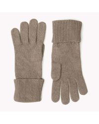 Tommy Hilfiger | Natural Wool Blend Gloves | Lyst