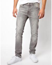 ASOS - Gray Slim Jeans In Grey Wash for Men - Lyst