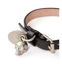 Alexander McQueen - Black 'valour' Print Skull Charm Bracelet for Men - Lyst