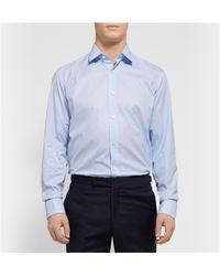 Charvet - Blue Gingham Checked Cotton Shirt for Men - Lyst