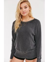 Truly Madly Deeply | Black Piper Button-back Pullover Sweatshirt | Lyst