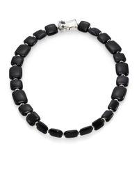 John Hardy | Black Obsidian Black Sapphire Sterling Silver Necklace | Lyst
