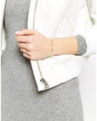 Pilgrim - Metallic Gold Plated Faux Pearl Clean Cuff Bracelet - Lyst