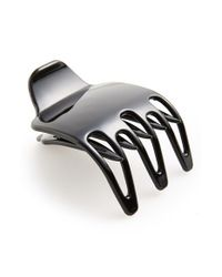 Belle by France Luxe - Black 'three-prong Scoop Pinch' Hair Clip - Lyst