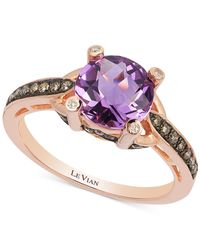 Le Vian - Pink Petite Collection Amethyst (1-3/8 Ct. T.w.) And Diamond (1/4 Ct. T.w.) Ring In 14k Rose Gold - Lyst