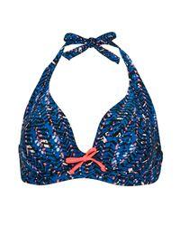 Curvy Kate - Blue Instinct Halterneck Bikini Top - Lyst