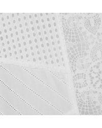 McQ Alexander McQueen - White Broderie Tunic Dress - Lyst