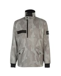 e82b0ea372bea Lyst - Stone Island Check Grid Camouflage Jacket in Gray for Men