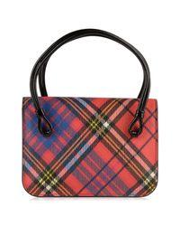 Vivienne Westwood - Red Edinburgh Check Small Bag - Lyst