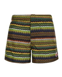 Missoni - Green Zag Swim Shorts for Men - Lyst