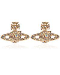 Vivienne Westwood - Metallic Jewel Grace Stud Earrings - Lyst