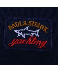 Paul And Shark - Blue + Shark Leved Polo for Men - Lyst