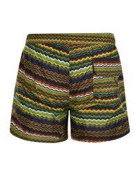 Missoni - Green Zag Swim Shorts for Men - Lyst