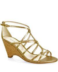 Alexandre Birman - Metallic Wedge Sandal - Lyst