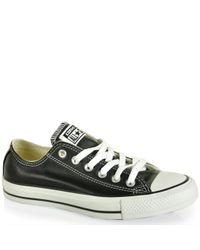 Converse | Black Leather Sneaker | Lyst