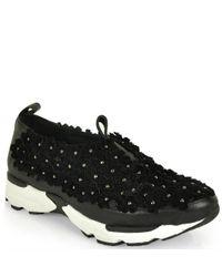 Jeffrey Campbell - Black Floral Sneaker - Lyst