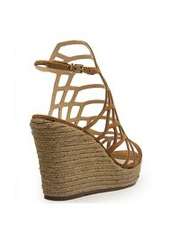 Schutz - Brown Wedge Espadrille - Lyst