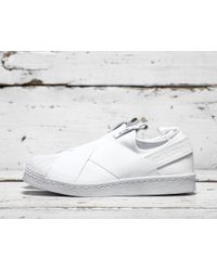 Adidas Originals | White Superstar Slip-on | Lyst