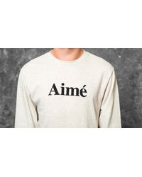 Footshop - Multicolor Aimé Leon Dore Longsleeve Logo Tee Oatmeal for Men - Lyst