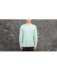 Huf Green Domestic Longsleeve Tee Celadon for men