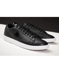 Nike - Wmns Blazer Low Essential Black/ Black-black - Lyst