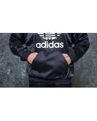 Adidas Originals Blue Adidas Trefoil Hoodie Legend Ink for men
