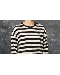 Stussy Multicolor Tribe Long Sleeve Tee Off White