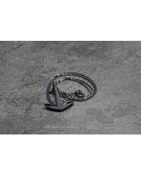 Footshop | Multicolor Miansai Anchor Necklace Noir Oxidized for Men | Lyst